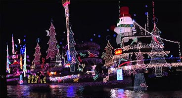 Christmas Boat Parade in Newport Beach CA
