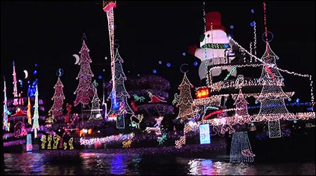 East Meets West Christmas Boat Parade
